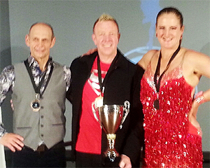 Winners of the masters salsa solo competition Christchurch 2014