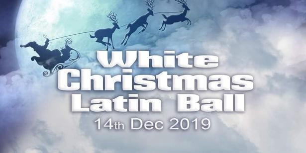 White Christmas Latin Ball Banner