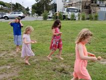 Dance Revolution Egg and Spoon race Mt Pleasant