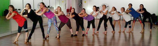 Ladies Shine Group at Latin Fire Dance Studio, Christchurch having fun