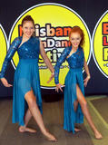 Caitlin & Natasha in their salsa dance outfits