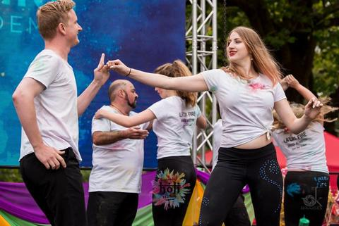 Latin Fire Dance Academy Christchurch perform salsa Holi festival